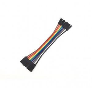 10 бр. цветни кабели с дължина 20 см. женско/женско