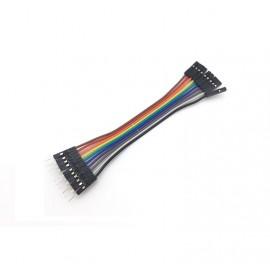 10 бр. цветни кабели с дължина 20 см. мъжко/женско