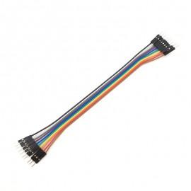 10 бр. цветни кабели с дължина 20 см. мъжко/мъжко
