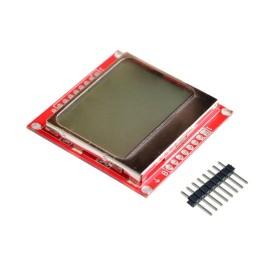 LCD дисплей модул с бяла подсветка (Nokia 5110)