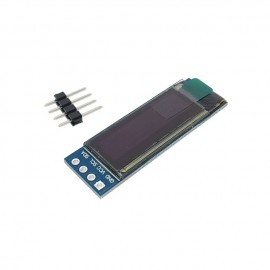 "0.91"" Бял OLED дисплей 128X32 с I2C комуникация"