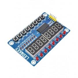TM1638 модул с 8 цифров LED дисплей и бутони