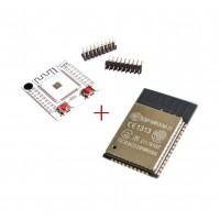ESP32 WROOM-32 с WiFi и Bluetooth + адапторна платка