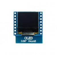 """0.66"""" OLED бял дисплей 64x48 за D1 мини"""