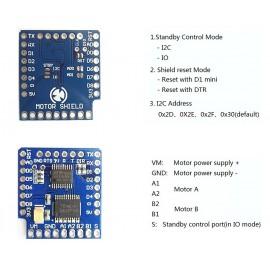 Разширителна платка za управление на два мотора V1.0.0 за D1 мини