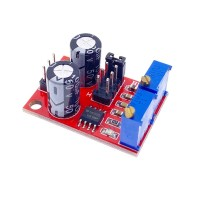 NE555 импулсен генератор с регулируема честотата и продължителност на импулса