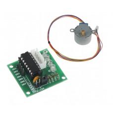 Стъпков мотор 28YBJ-48 + платка с ULN2003 управляващ чип