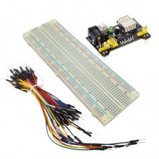 MB102 прототипна платка, кабели и захранващ модул