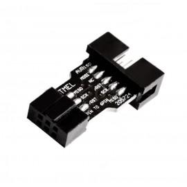 10 pin - 6 pin Адаптер (преходник) за AVRISP MKII USBASP STK500 Ардуино