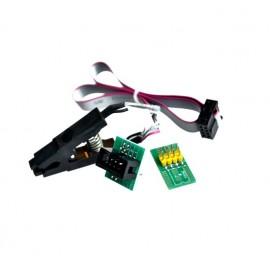 Щипка SOIC8, SO8 с преходен кабел и платка